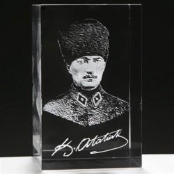 - 3D Askeri Kalpaklı Atatürk