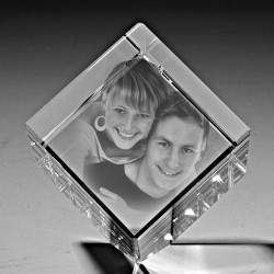 Kişiye Özel Kristal Fotoğraf 50x50x50 Kesik - Thumbnail