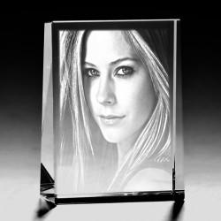 - Kişiye Özel Kristal Fotoğraf 80x60x25 Dikey